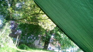 The view from my sleeping bag.