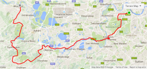 Click on the route to link to my Strava route