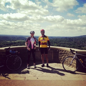 Ash and I on Box Hill