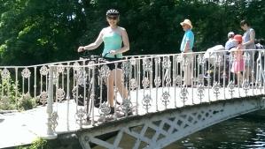 Posing on the beautiful bridge